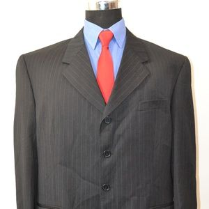 Zagato 44R Sport Coat Blazer Suit Jacket Black